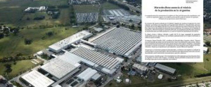 Mercedes-Benz vuelve mañana a la producción (y aún quedan cuatro fábricas automotrices cerradas)