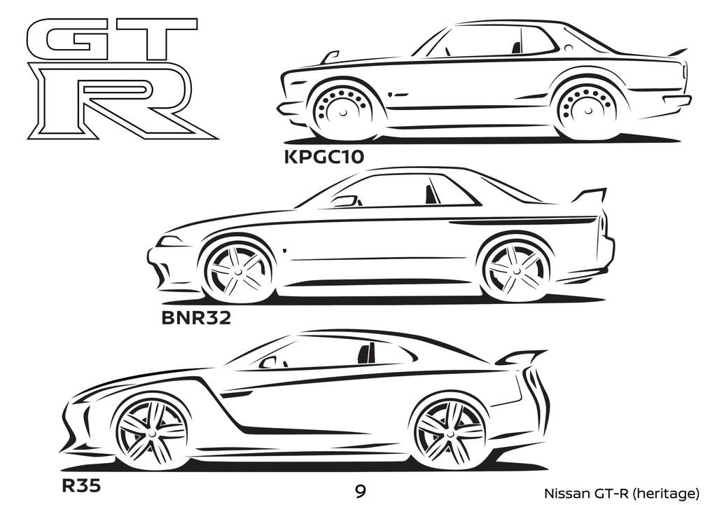Nissan libera un libro para colorear con decenas de autos, desde sus deportivos más famosos hasta los últimos conceptos